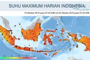 BMKG Memprakirakan Suhu Panas Melanda Indonesia Hingga Minggu Depan